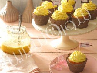 کاپ کیک با کرم لیمو