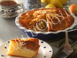 کیک بادام و گلابی