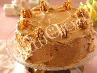کیک گردویی با كرم شکر قهوهای