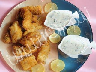 ماهی سوخاری  با سس لیمو