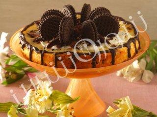 چیز کیک بیسکویت شکلاتی کرمدار