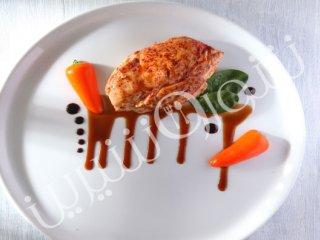 سینه مرغ پر شده با قارچ و پیاز