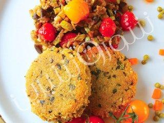 کیک کوسکوس با سبزیجات مدیترانه ای