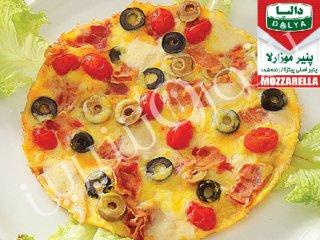 املت با زیتون و پنیر موزارلا