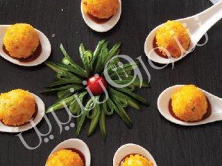 توپ های مرغ و پنیر