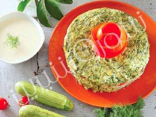 کوکوی کدو سبز و پنیر