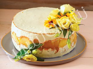 کیک کارامل و گلابی