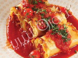 رول لازانیابا سس گوجه و پنیر موزارلا