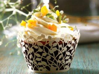 کاپ کیک زردآلو و هویج
