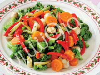 بشقاب مخلوط سبزیجات