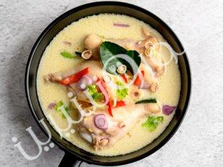 سوپ خامهای مرغ
